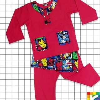 Custom t-shirt, baju melayu,pijamas,blouse,pants superhero/cartoon