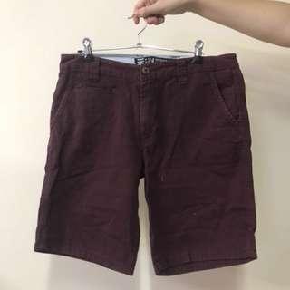 Maroon Shorts - Size 34
