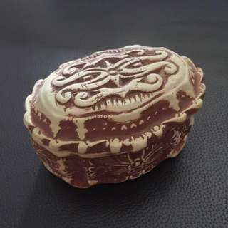 Clay oval container from Sarawak