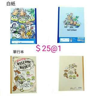 日本製 迪士尼 toystory 三眼仔 筆記簿 記事簿