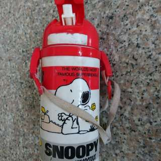 Authentic snoopy & Woodstock waterbottle