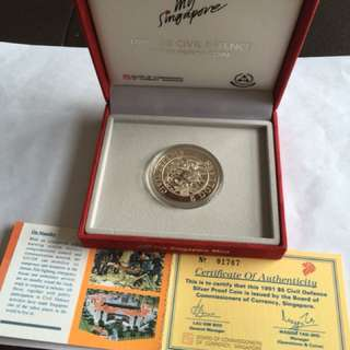 1991 Civil Defence $5 Silver Proof Coin