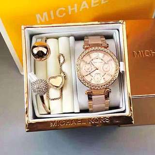 MK SET WATCH WITH 2 BANGLES