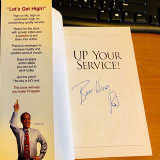 Book- Up Your Service (Ron Kaufman's Autograph) (New York Times Best Seller) (K005)