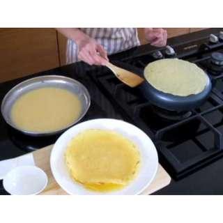 Jual Wajan Cetakan Kue Crepes Teflon Panekuk 21Cm