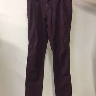 Maroon Skinny Chinos - Size 33