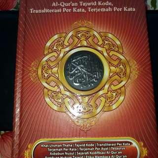 Al Wasim AlQuran Tajwid Kode, Transliterasi Per Kata,  Terjemah Per Kata
