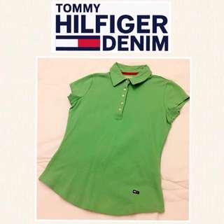 🚺《TOMMY HILFIGER DENIM 》全新 綠色 短袖polo衫