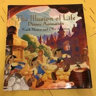迪士尼 精裝 Disney hardback book - The Illustration of Life, Frank Thomas and Ollie Johnson