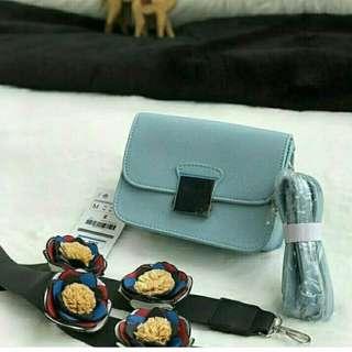 Zara floral blue