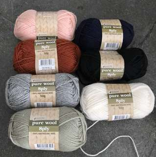 4 Seasons pure wool 8ply 50g