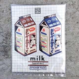 M I L K sticker pack