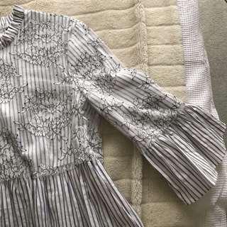 ZARA lace blouse top