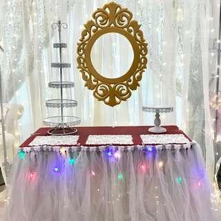 Rental of Tutu Table Skirting / Dessert Items / Fairy Lights