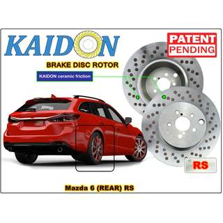"Mazda 6 brake disc rotor KAIDON (REAR) type ""RS"" / ""BS"" spec"
