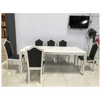 8 Chairs Extendable Table Dining set