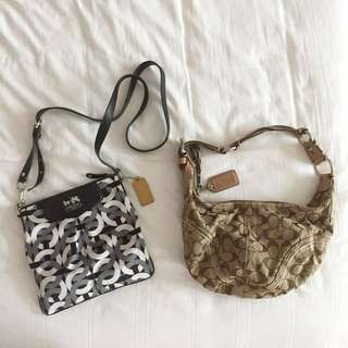 Authentic COACH brown hand bag