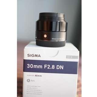 Sigma 30mm F2.8 DN For Sony E Mount Not Canon Leica Fujifilm Olympus