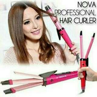 Nova catokan rambut 2in 1 lurus kriting