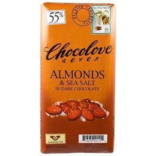 Chocolove 海鹽杏仁黑朱古力 Almonds & Sea Salt in Dark Chocolate