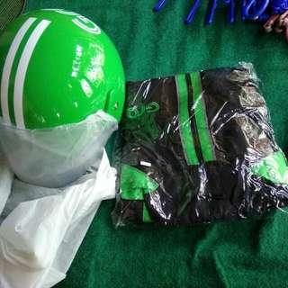 Helm dan jaket grabbike