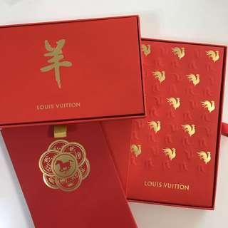 Louis Vuitton red pocket set. LV 十二生肖利是封