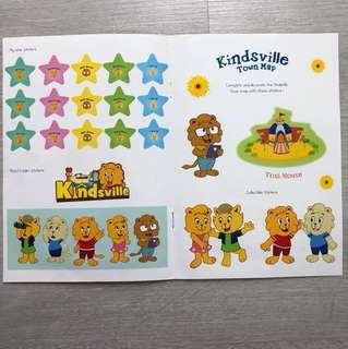 Kids' encouraging stickers