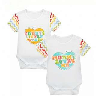 2 pcs set - Daddy Mommy love me