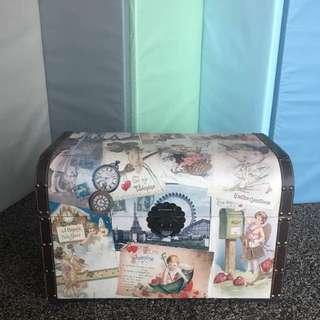 Vintage Wooden Trunk Box