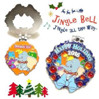 Disney Pin 迪士尼襟章 Dumbo 小飛象 - Christmas Wreath