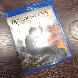 Resident evil the final chapter Bluray and digital code