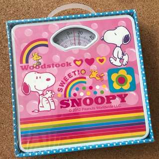 BN TM snoopy peanuts Woodstock worldwide bathroom scale kids