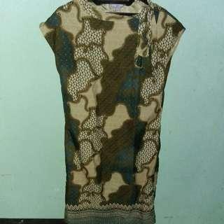 Dres Batik Bahan Semi Sutra Size L