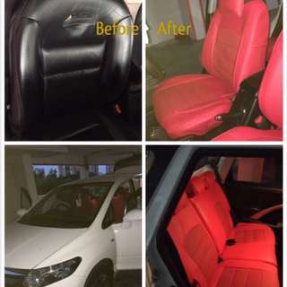Honda Airwave leather seat cover(customise)