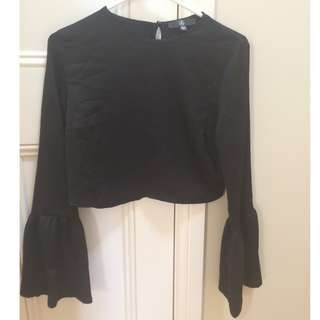 Missguided Cropped Flare Top