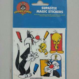 BLESS📬Brand New Looney Tunes Tweety Bird Supastix Magic Stickers (A)