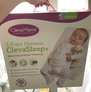 Clevamama pillow 3 point harness Clevasleep+