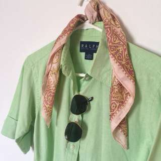 RALPH LAUREN shirt mint green
