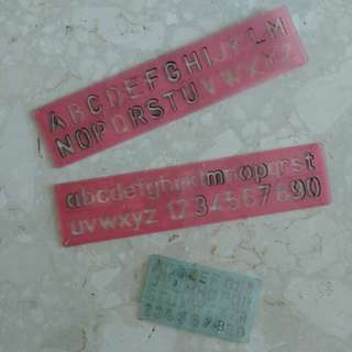 Alphabetical & Number Stencils