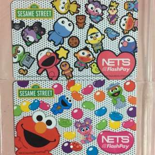 Limited Edition brand new Sesame Street Set Of 2 nets Flash Pay Cards With Elmo and Baby designs for only $12.
