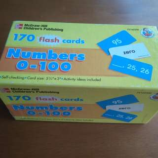 McGraw-Hill 170 Flash Cards numbers 0-100