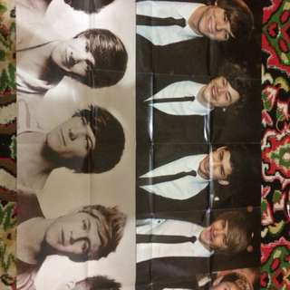 OFFICIAL HUGE POSTER ONE DIRECTION