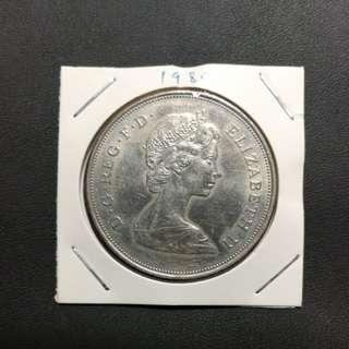 大英國硬幣 198 0