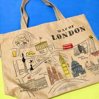 👜Fashionable Tote Bag - Map of London👜
