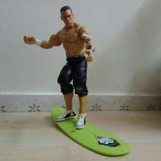 7吋摔角手Figure WWE John Cena Surfing 玩滑浪