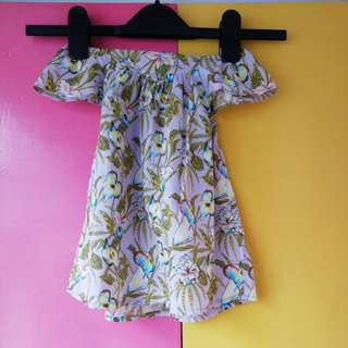 DE BERRY - Floral Off Shoulder Dress