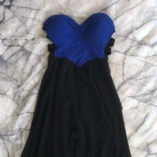 Black and blue formal dress size XS