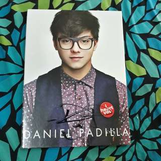 Daniel Padilla's I heart you album with autograph
