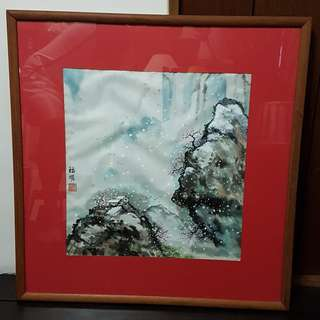 Chinese Painting- Snow Mountain