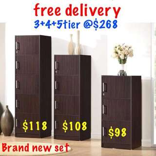 Utility cabinet with door